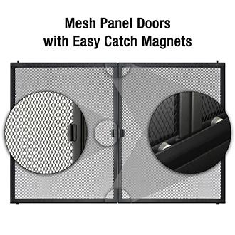 Mesh Panel Doors with easy catch magnet