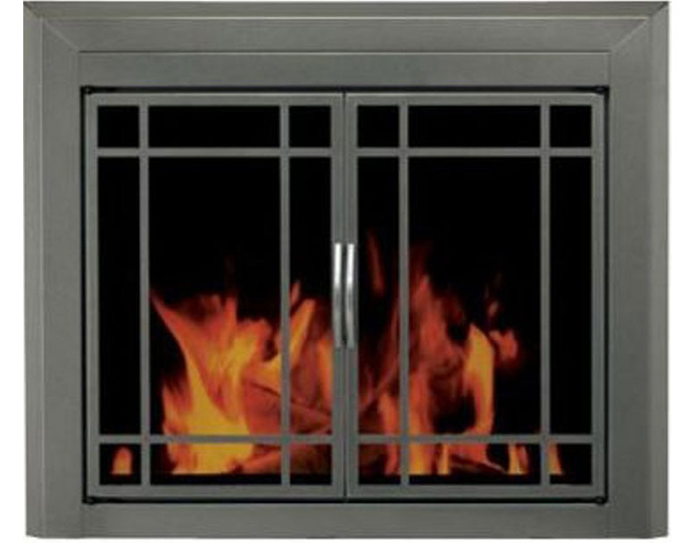 Pleasant Hearth ED 5412 Edinburg Glass Firescreen