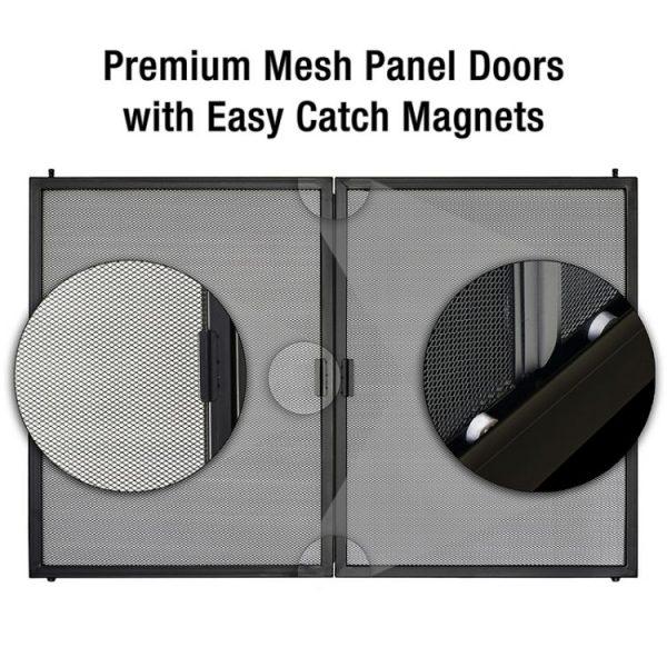 Easy catch magnets with mesh door