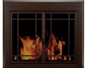 Pleasant-Hearth---Enfield-Glass-Firescreen-Burnished-Bronze-product-