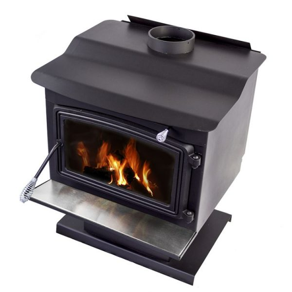 Angled shot of Pleasant Hearth WS-3029 2,200 Sq. Ft. Large Wood Burning Stove