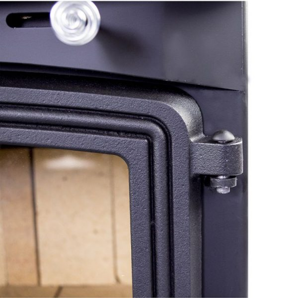 Hinge on the Pleasant Hearth WS-3029 2,200 Sq. Ft. Large Wood Burning Stove