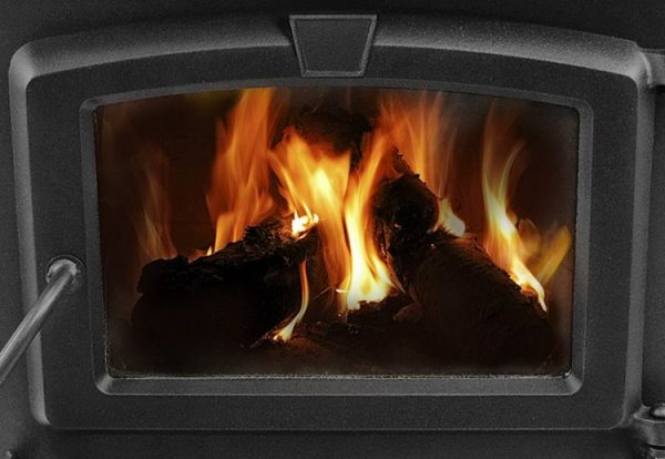 Close up of Pleasant Hearth HWS-224172MH 1,200 Sq. Ft. Small Mobile Home Stove
