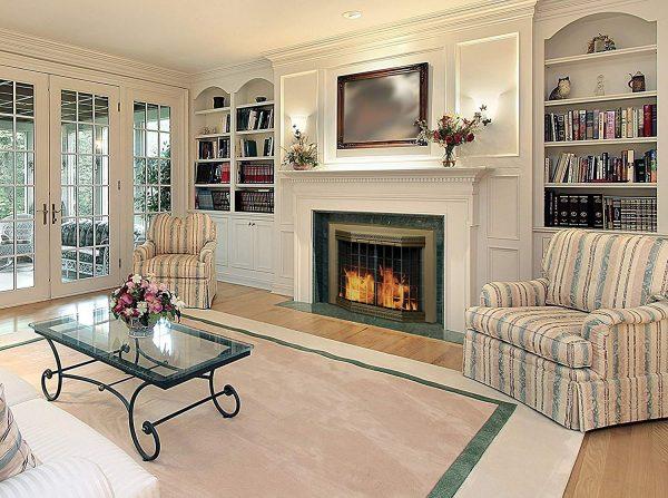 Pleasant Hearth Grandoir Fireplace Glass Door Antique Brass-lifestyle