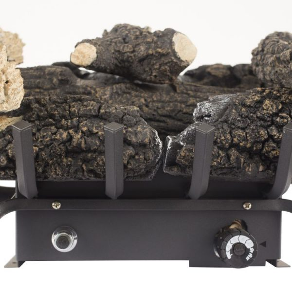 "Close up of Pleasant Hearth 18"" Dual Fuel Wildwood Vent Free Gas Log Set 30,000 BTU - VFL2-WW18DT"