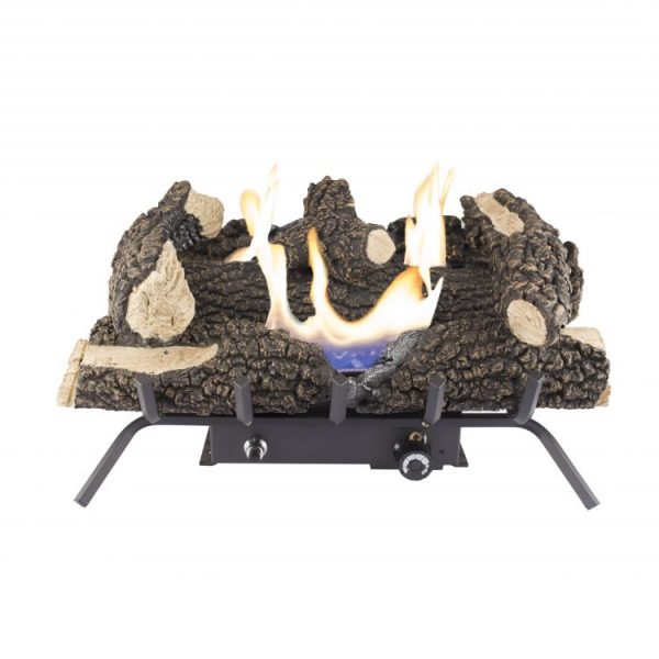 "Product Shot Pleasant Hearth 24"" Dual Fuel Wildwood Vent Free Gas Log Set 30,000 BTU"