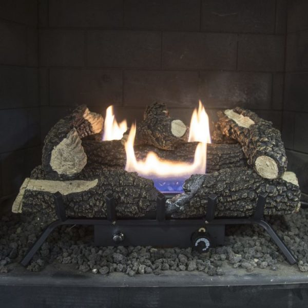 "In hearth Pleasant Hearth 24"" Dual Fuel Wildwood Vent Free Gas Log Set 30,000 BTU"