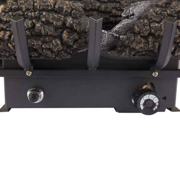 "Close up Pleasant Hearth 24"" Dual Fuel Wildwood Vent Free Gas Log Set 30,000 BTU"
