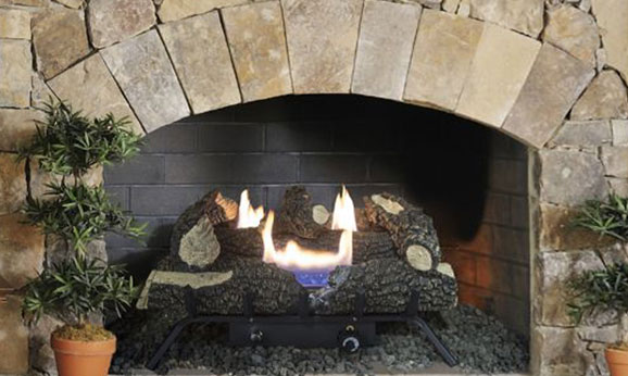 "Pleasant Hearth 24"" Dual Fuel Wildwood Vent Free Gas Log Set 30,000 BTU"