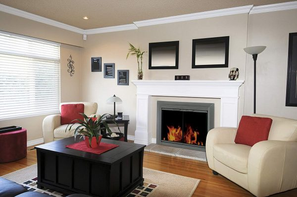 pleasant hearth craton fireplace door lifestyle shot