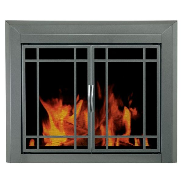 Pleasant Hearth - Edinburgh Glass Firescreen Gunmetal