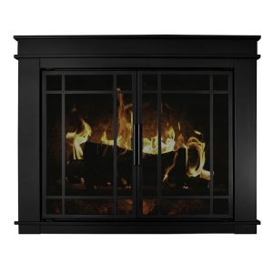 Pleasant Hearth - Fillmore Glass Firescreen Midnight Black-product