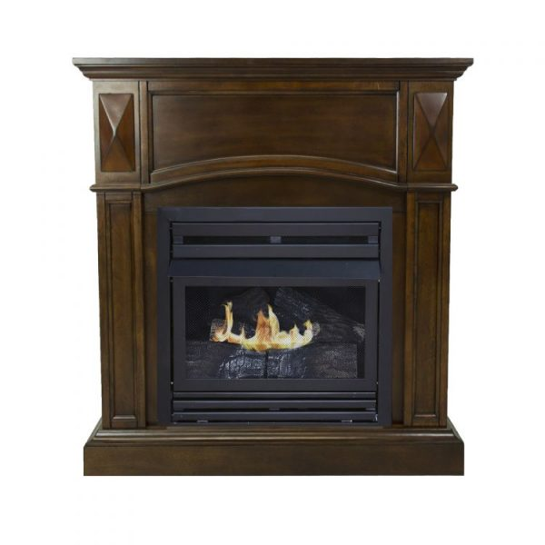 Pleasant Hearth 36 in. LP Compact Cherry VF Fireplace System 20K BTU - VFF-PH20LP-C2