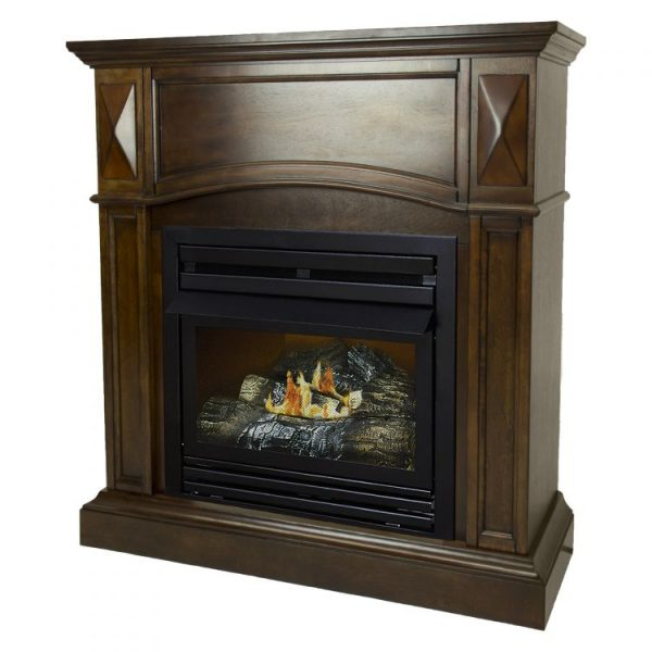 Pleasant Hearth 36 in. LP Compact Cherry VF Fireplace System 20K BTU - VFF-PH20LP-C2 - side
