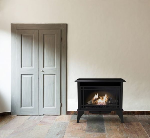 Lifestyle shot of Pleasant Hearth 30,000 BTU 32 in. Intermediate Vent Free Gas Stove - VFS2-PH30DT