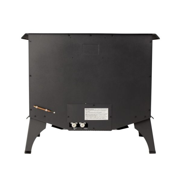 Rear of the Pleasant Hearth 30,000 BTU 32 in. Intermediate Vent Free Gas Stove - VFS2-PH30DT
