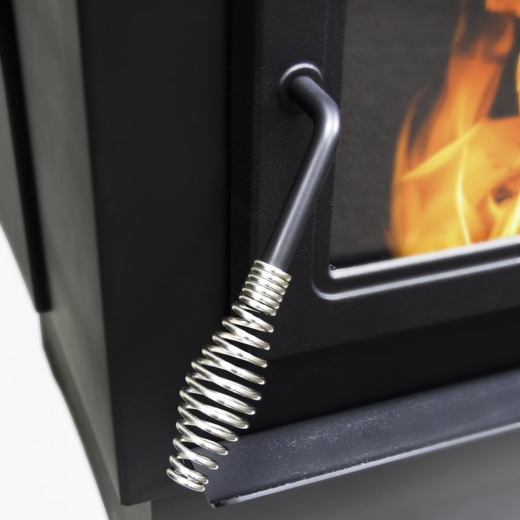 Handle of Pleasant Hearth 50,000 BTU Cabinet Pellet stove PH50CABPS-B