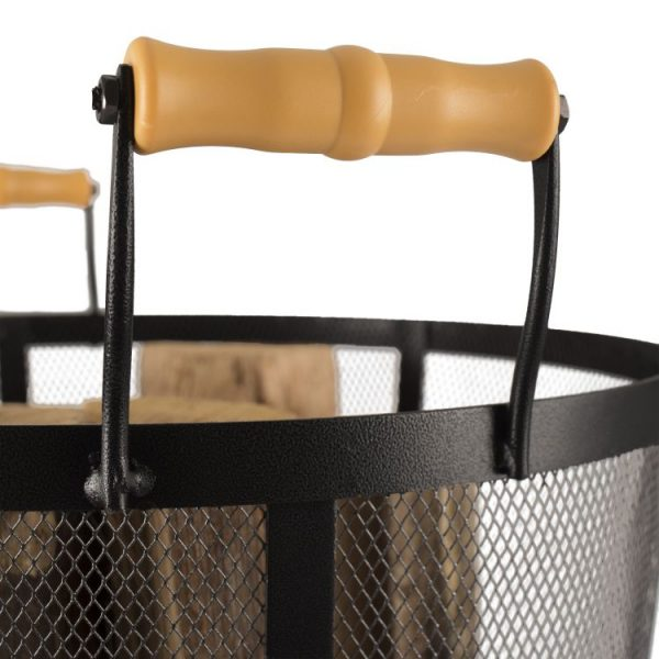 handles on Pleasant Hearth Log Bin - FA010L